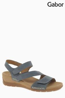 Gabor Blue Nubuk Sandal
