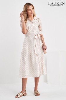 Lauren Ralph Lauren Pale Pink Stripe Trymine Dress