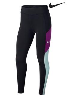 Nike Dri-FIT Black/Teal Trophy Leggings