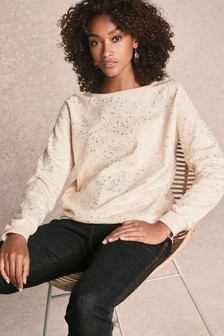 Metallic Print Sweatshirt