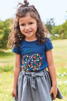 Embroidered Fruit Short Sleeve T-Shirt (3mths-7yrs)