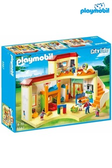 Playmobil® City Life Sunshine Preschool With Functional Blackboard And Clock Hands