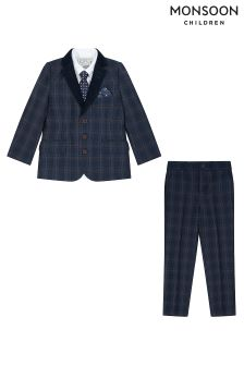 Monsoon Finley Check Complete Jacket Set