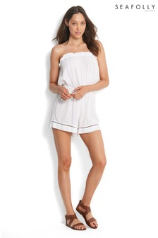 Seafolly White Pull-On Playsuit