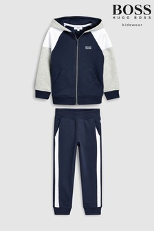 BOSS Navy Colourblock Tracksuit
