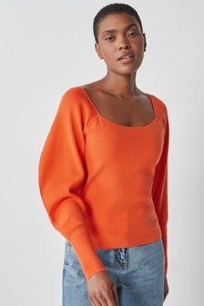 Square Neck Knitted Top