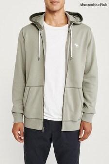 Abercrombie & Fitch Grey Full Zip Hoody