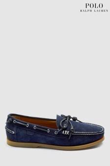 Ralph Lauren Navy Seude Boat Shoe