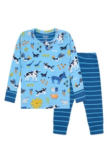Baby Boys Organic Cotton Blue Pyjamas