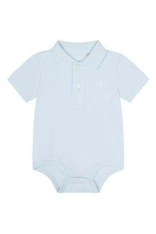 Ralph Lauren Kids Baby Boys Blue Polo Bodysuit