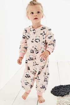 Panda Print Fleece All-In-One (9mths-8yrs)