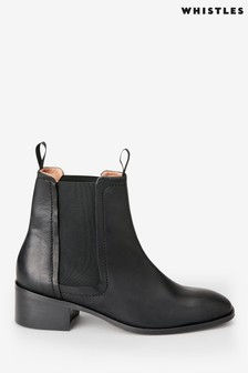 Whistles Black Fern Chelsea Boots
