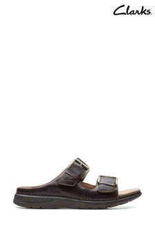 Clarks Tan Leather Nature Vibe Sandals