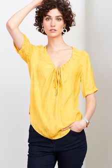 ce8d7b7a45fb Buy Women's tops Tops Yellow Yellow Blouses Blouses from the Next UK ...