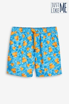Duck Print Swim Shorts