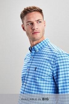 חולצת משבצות קטנות ושרוול ארוך