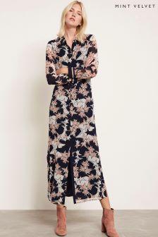 Robe mi-longue Mint Velvet rose