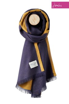 Joules Blue Colourblock Scarf