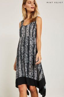 Mint Velvet Grey Snake Print Dress
