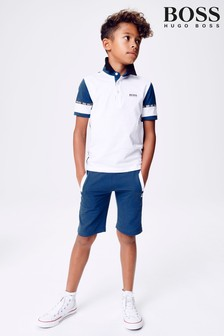 BOSS Navy Poloshort Set
