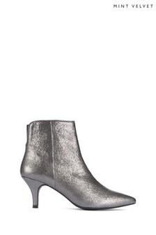 Mint Velvet Grey Lorna Metallic Heel Boots