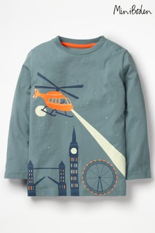 Boden Grey Glow In The Dark Scene T-Shirt
