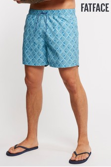 FatFace Blue Daymer Tile Print Swimmers