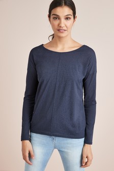 Cross Back Long Sleeve Layer Top