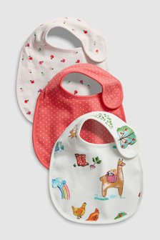 Farm Animal Regular Bibs Three Pack