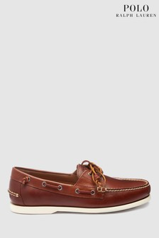 Ralph Lauren Tan Leather Boat Shoe