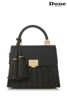 Dune Accessories Black Medium Basket Bag