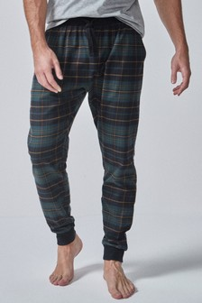 Check Brushed Woven Cuffed Pyjama Bottoms