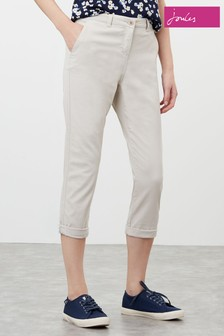 Joules Cream Hesford Crop Cropped Chino Trousers