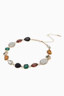 Multicolour Jewelled Short Necklace