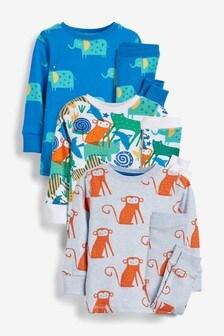 3 Pack Animal Snuggle Pyjamas (9mths-8yrs)