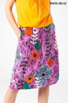White Stuff Pink Buttercup Linen Mix Skirt