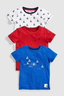 Boat T-Shirts Three Pack (3mths-7yrs)