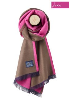 Joules Pink Colourblock Scarf