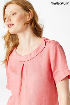 White Stuff Red Lily Linen Top