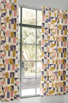 Irregular Geo Eyelet Curtains