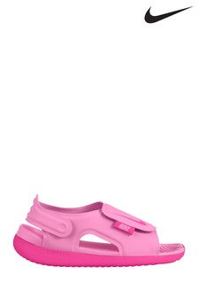 Nike Pink Sunray Adjust Junior & Youth Sandals