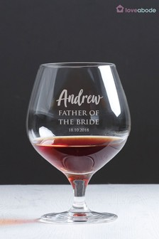 Personalised Father Of The Bride Glass by Loveabode