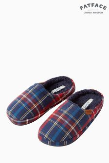 FatFace Red Mason Check Mule
