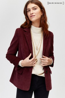 Warehouse Berry Cord Blazer