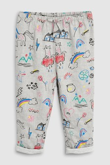 Print Pull-On Trousers (3mths-7yrs)