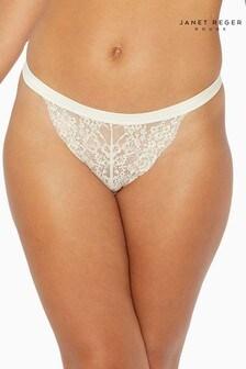 Janet Reger Rouge White Bikini Briefs