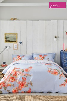 Joules Hollyhock Floral Cotton Duvet Cover
