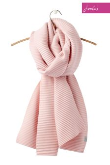 Joules Pink Soft Crinkle Scarf