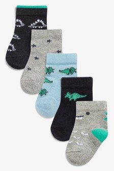 Dino Socks Five Pack (Younger)