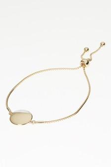 Mother Of Pearl Detail Disc Bracelet